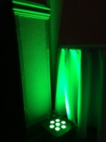 Green LED Uplighting for Corporate Event in Nova Scotia