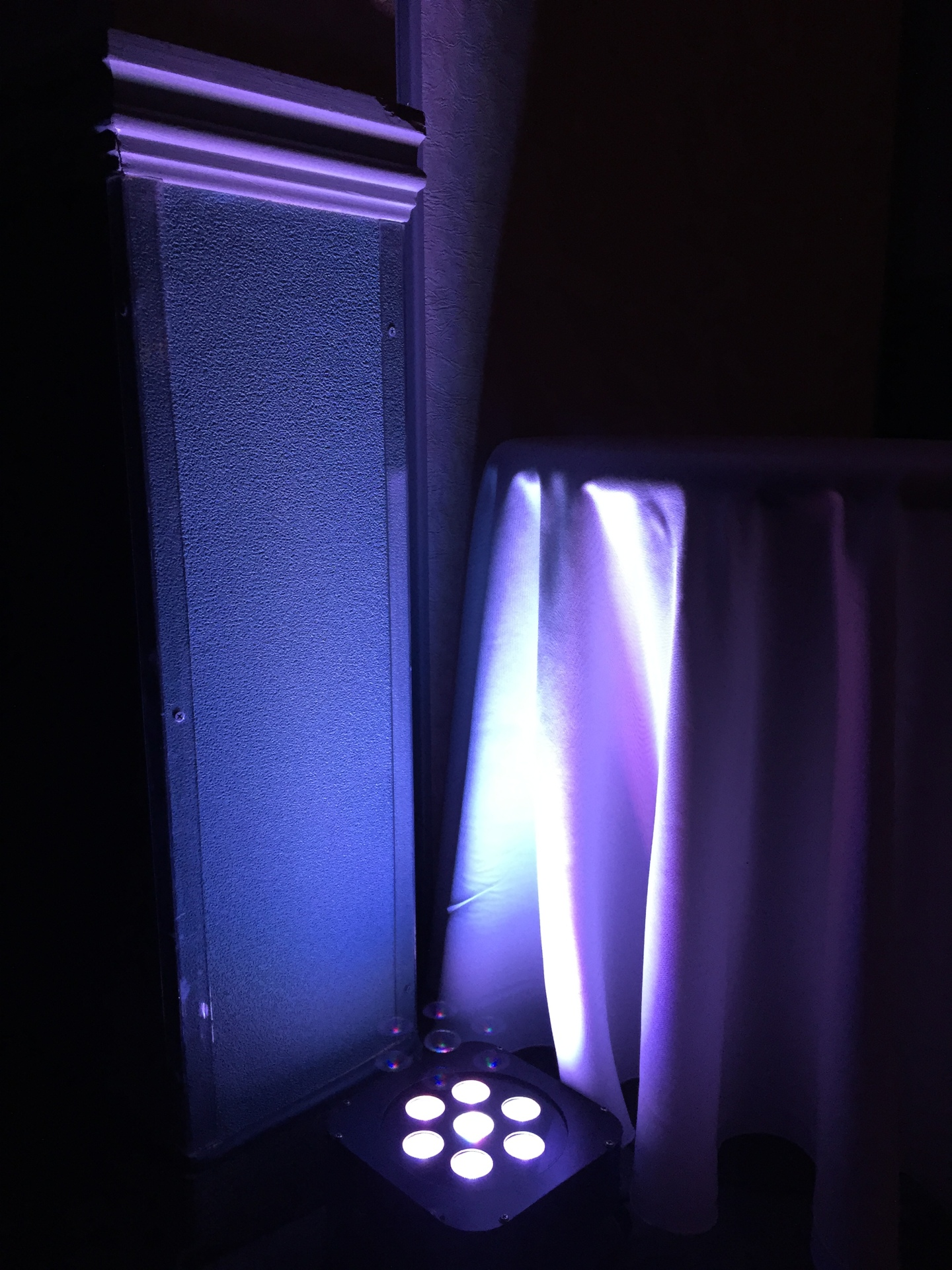 Purple LED Uplighting for Wedding in Nova Scotia