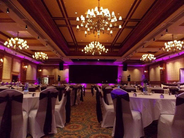 LED Uplighting for Wedding Reception at the Halifax Casino, Nova Scotia, Wedding DJ in Halifax, Nova Scotia, Canada