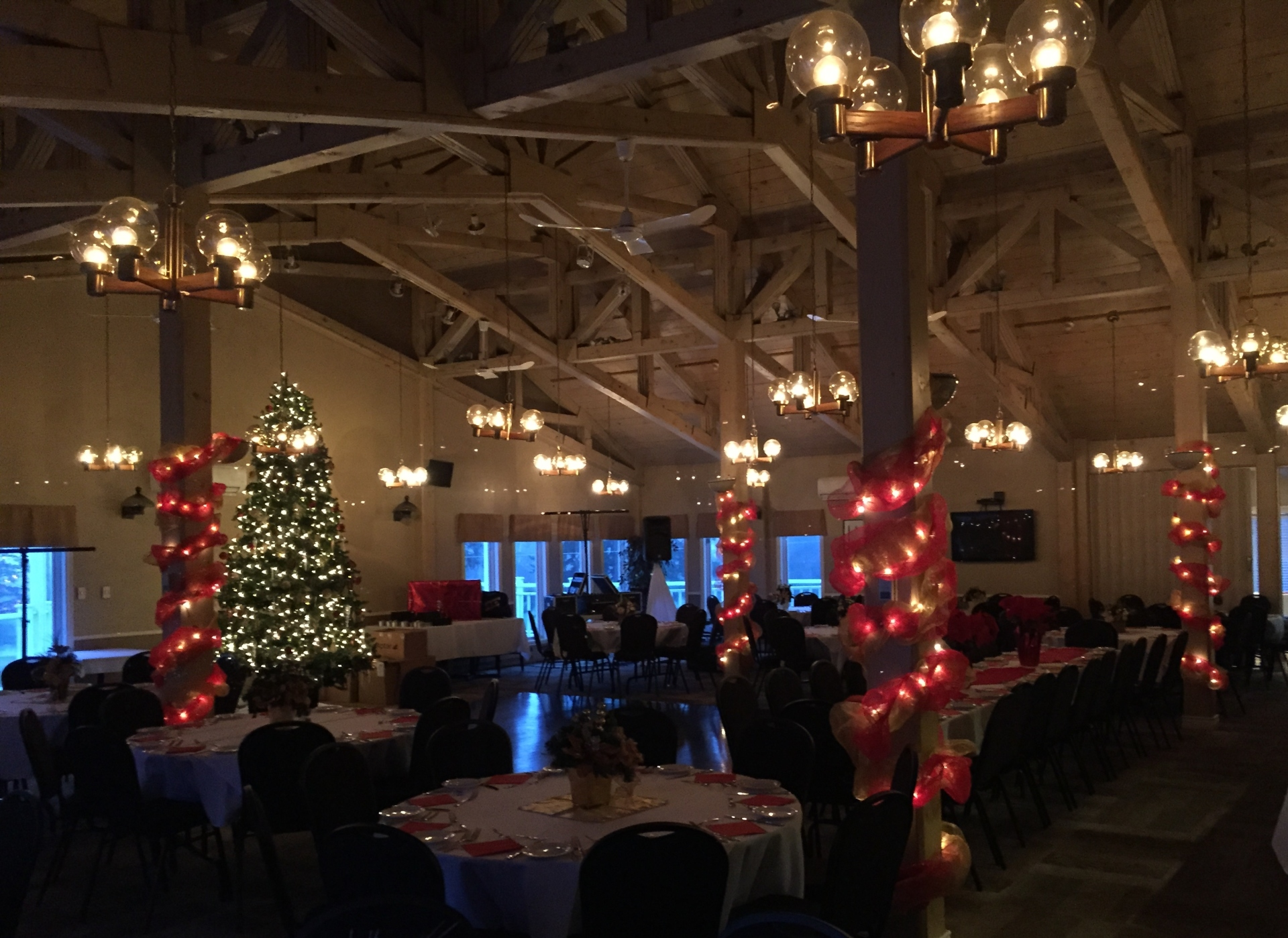 Before shot of Uplighting for Corporate Event in Nova Scotia, Halifax